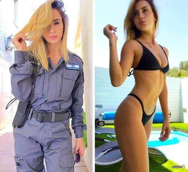 Солдатки из ЦАХАЛ – в униформе и без