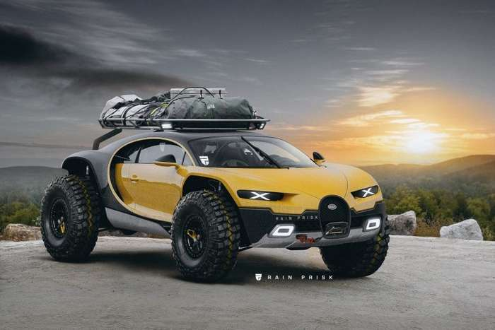 Всадник Апокалипсиса: Bugatti Chiron для встречи конца света-7 фото-