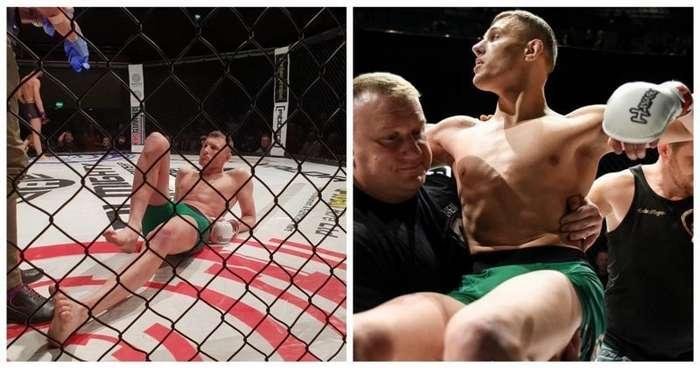 Боец ММА повредил обе ноги, празднуя победу-2 фото + 1 видео-