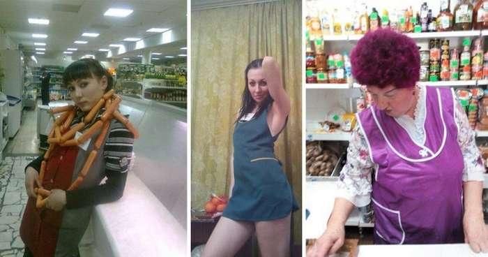 Продавщицы из продуктовых, которые сведут вас с ума-20 фото-