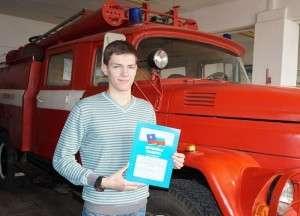 Андрей Минюк в одиночку потушил горящую квартиру