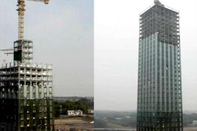 Бешеная стройка: в Китае построили 30 этажный отель за 2 недели-3 фото + 1 видео-