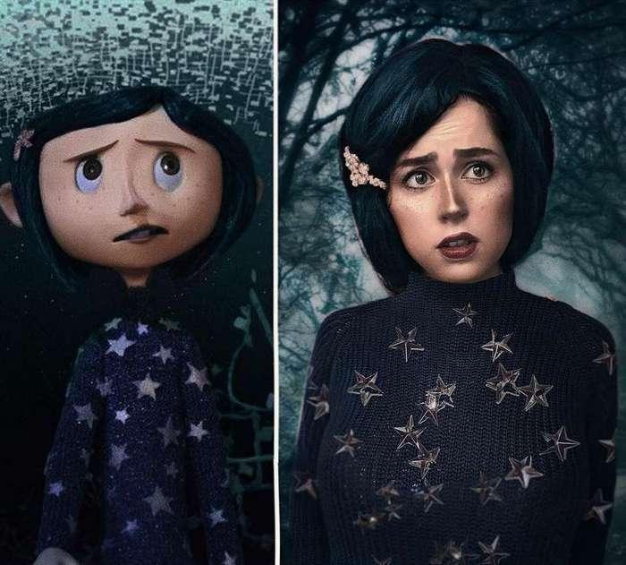 Визажист так точно превращается в героев фильмов и мультиков, что невозможно отличить от оригинала