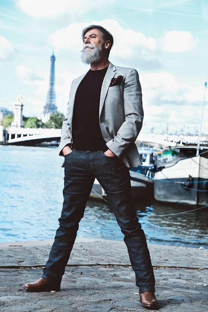 Борода - страшная сила: 60-летний пенсионер исполнил свою мечту и стал моделью