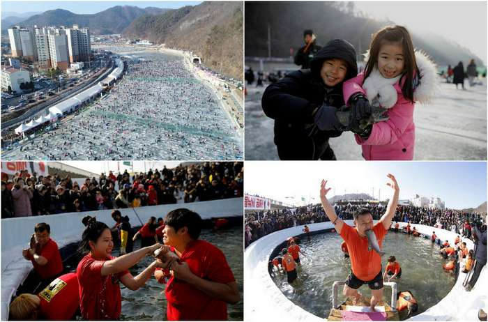 Фестиваль льда в Южной Корее