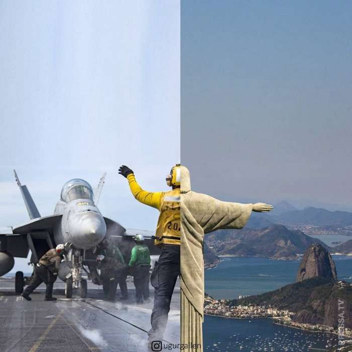 Контраст между двумя мирами, в которых живет человечество
