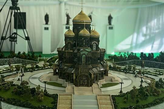 Ступени строящегося храма Минобороны выплавят из танков Третьего рейха-16 фото-