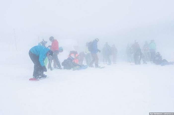 Главный горнолыжный курорт России через 5 лет после Олимпиады-72 фото-