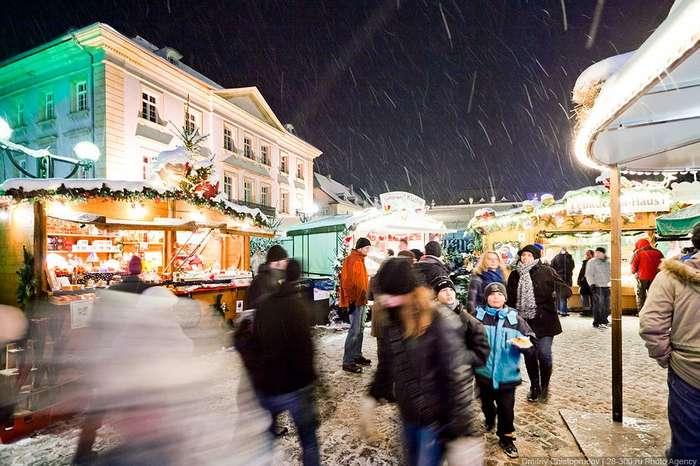 Прогулка по рождественскому базару в Германии