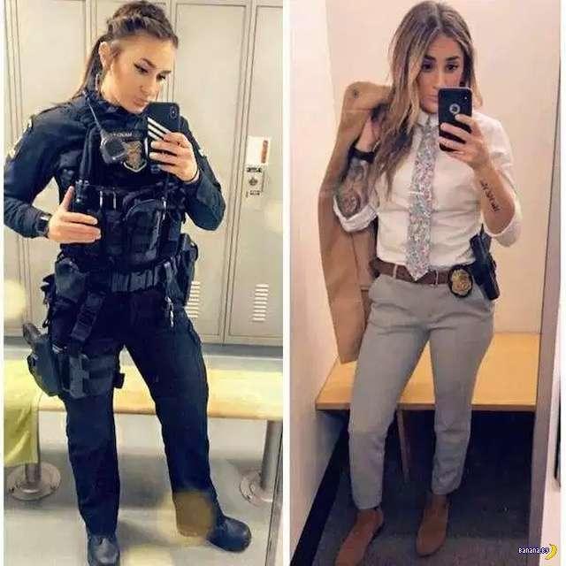 Когда девушек украшает униформа!