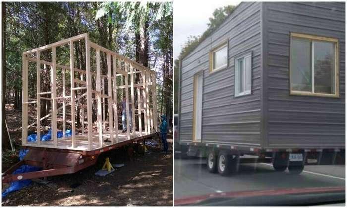 Молодой инженер соорудил уютный дом на колесах, потратив 15 тысяч долларов (15 фото)