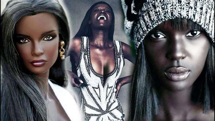 На смену Наоми Кэмпбелл: идеально темнокожая модель из Судана покоряет подиум