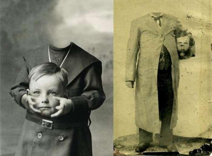 Безголовые портреты (2 фото)