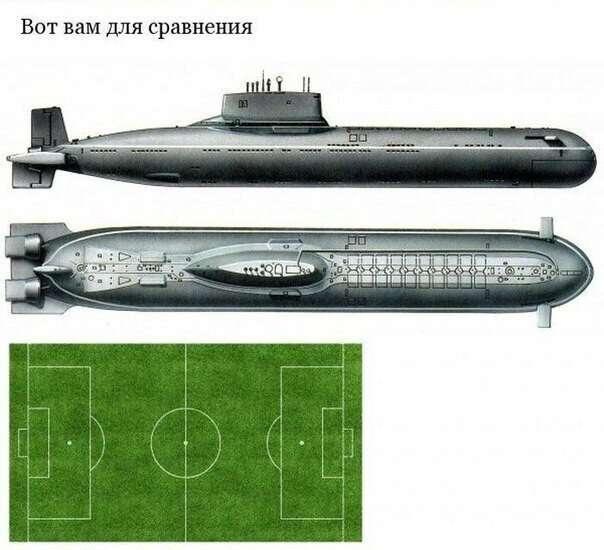 Гигантская подводная лодка проекта 941 — «Акула» (8 фото)