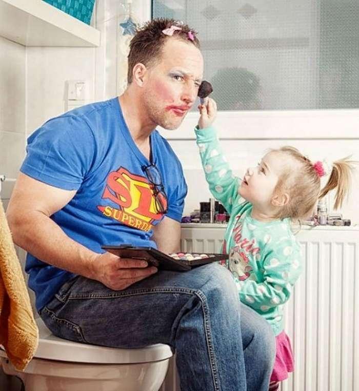 Ничто так не красит отцов, как их дочери: смешные фото