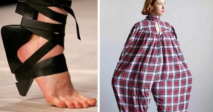 20 образцов самой странной одежды и обуви, которую не каждый рискнет примерить (21 фото)