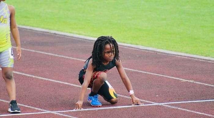 Самый быстрый мальчик в мире пробегает стометровку за 13,48 секунды