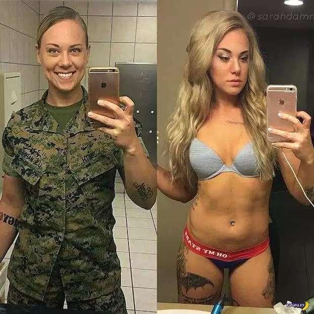 Секс под униформой!
