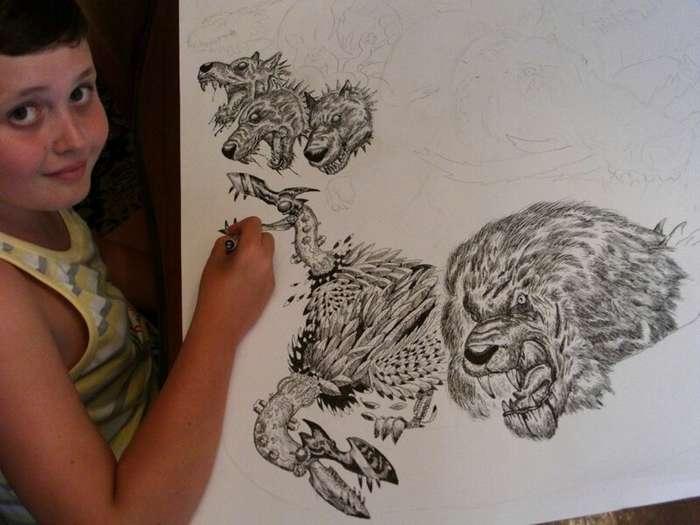 16-летний художник из Сербии рисует по памяти невероятно детализированные изображения животных                      Интересное