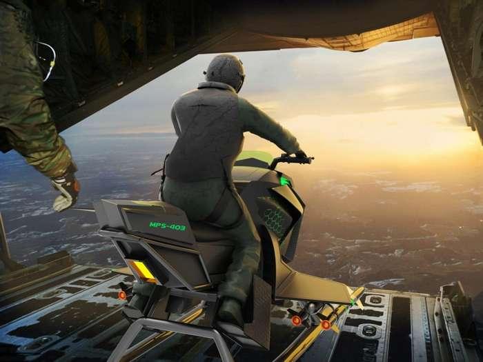 Производители осваивают мотоцикл будущего, он взлетает на реактивных двигателях Интересное