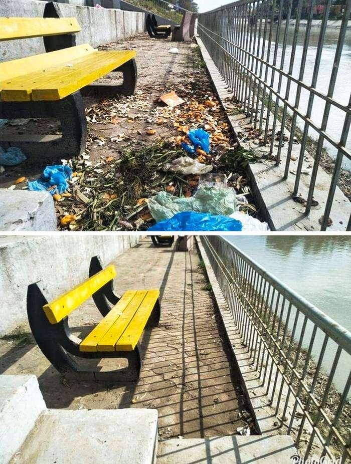Всего один человек вдохновил весь мир выйти наулицу ипросто начать убирать мусор Интересное