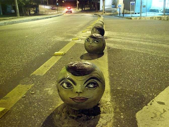 Уличные лица Интересное