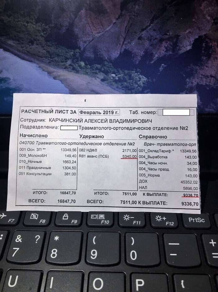 Врач-травматолог из Тольятти показал реальную зарплату медиков-3 фото-