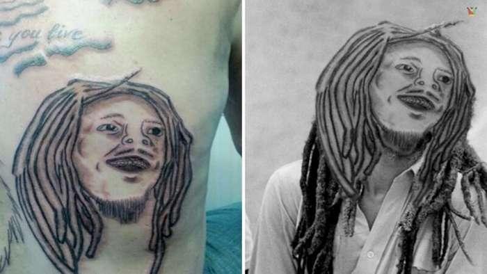 20 образцов худших портретных татуировок со всего мира                      Интересное