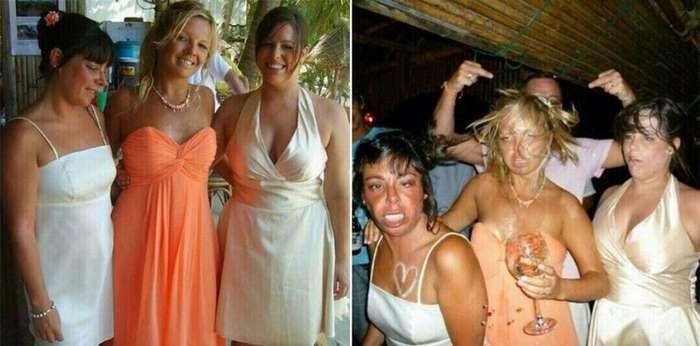 12 фотографий «до и после»                      Интересное