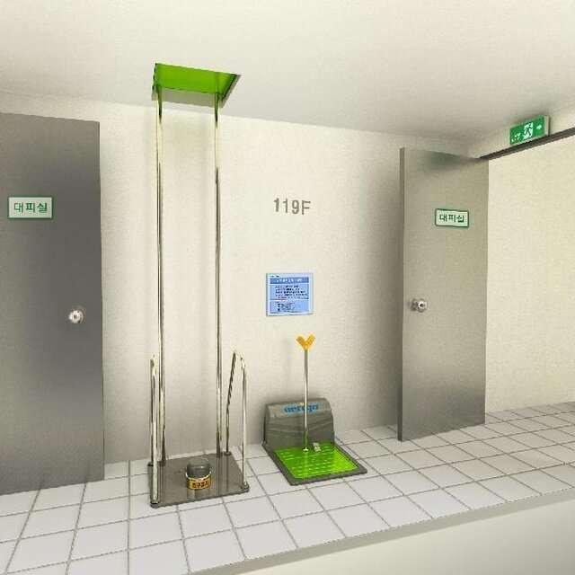 Необычная система для аварийной эвакуации из здания                      Интересное