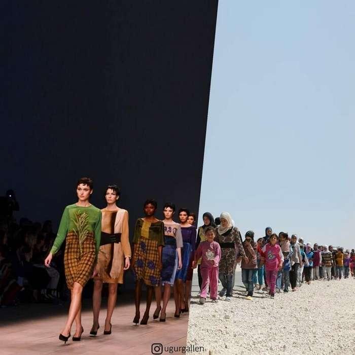Сильные фото-коллажи о контрастах двух миров, в которых мы живем                      Интересное