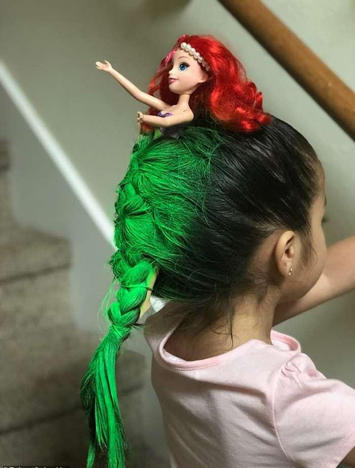 Девочка-русалочка вдохновила детей делать сумасшедшие прически  Интересное