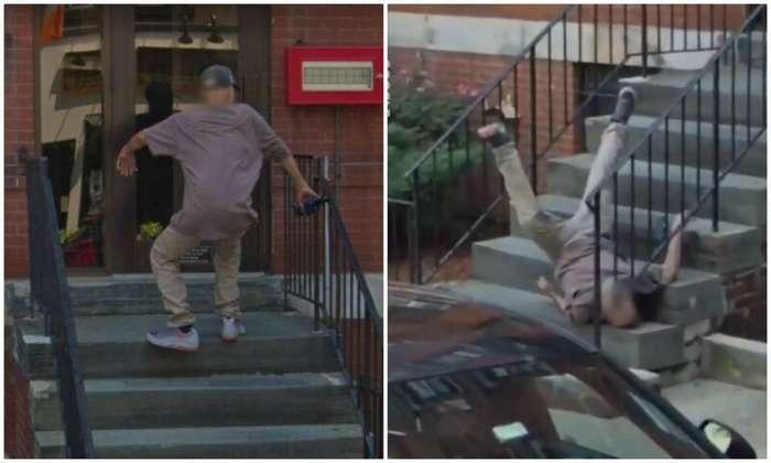 И смех, и грех: на Google карты попал парень, эпично упавший с лестницы                      Интересное