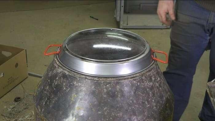 Печь из бетономешалки                      Интересное