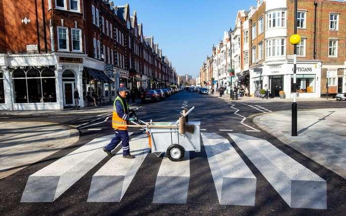 Оптическая иллюзия, спасающая жизни: в Лондоне сделали 3D-рисунок пешеходного перехода