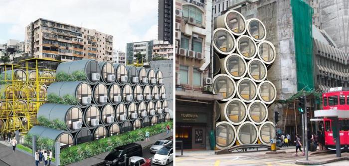Мини-квартиры в бетонных трубах: как в Гонконге решают проблему с жильем  Интересное