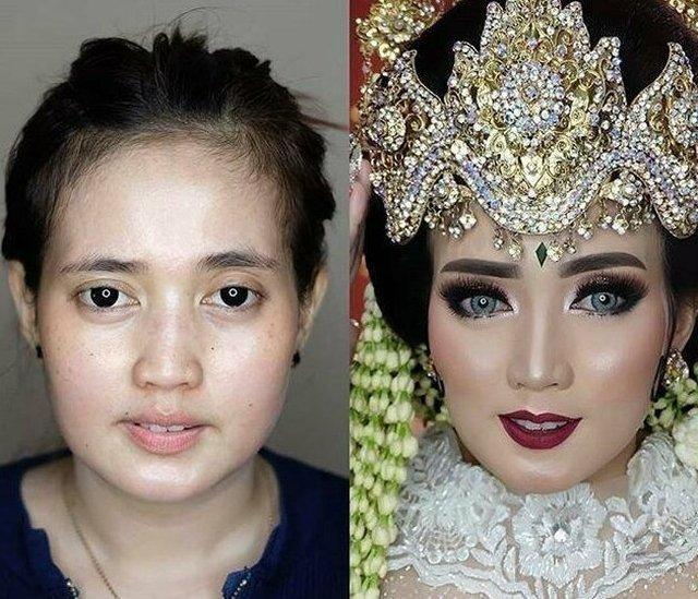 Свадебный макияж азиатских невест: «До и после» Интересное
