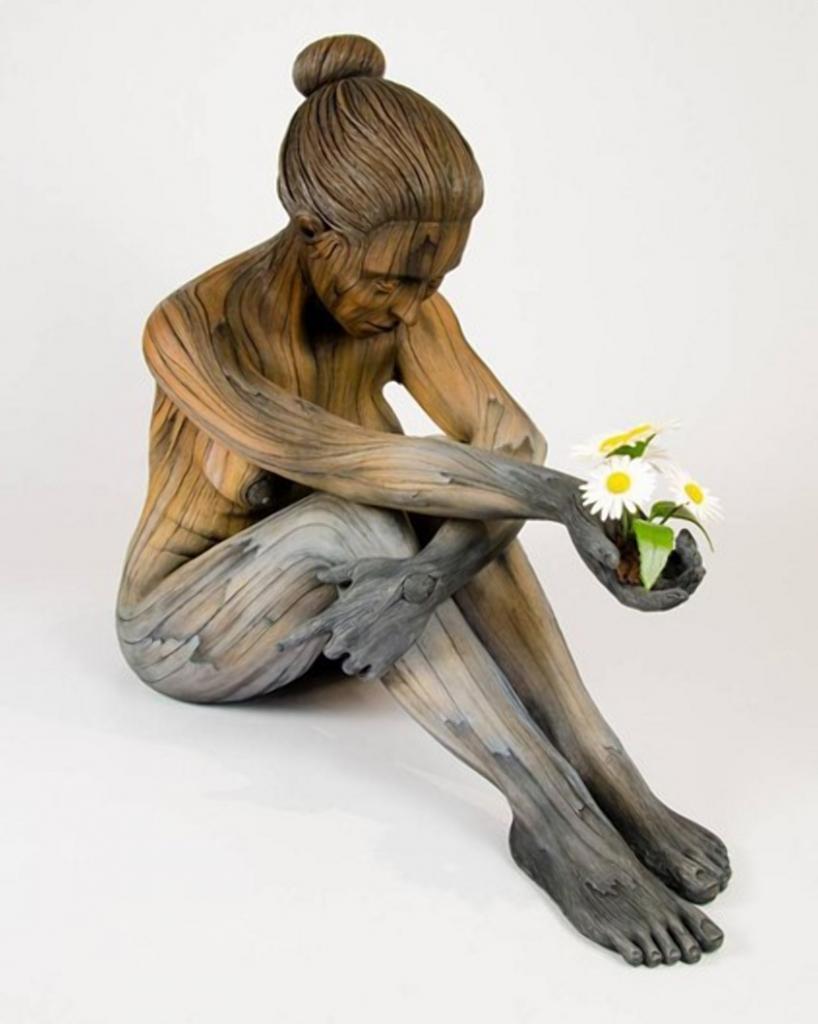 Как дерево, только керамика. Художник создает «живые» скульптуры Интересное