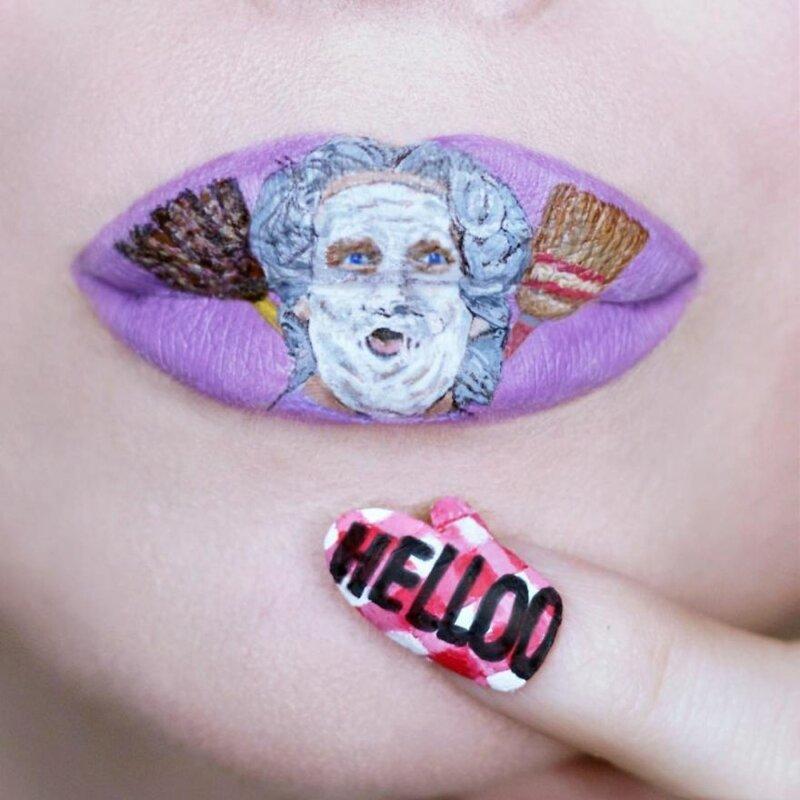 Живопись на губах: потрясающие работы визажиста Райан Келли                      Интересное