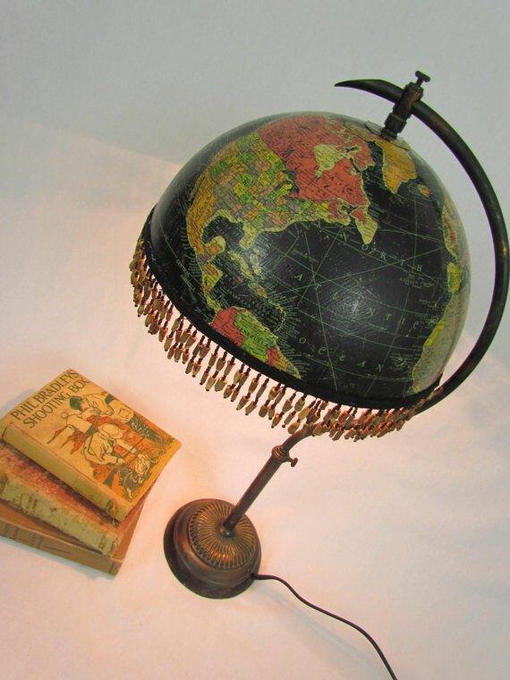 15 крутых идей использования старого глобуса                      Интересное