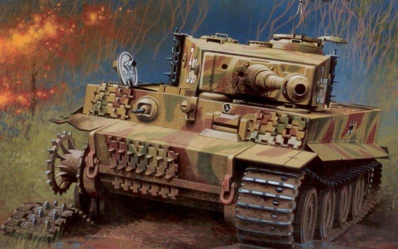 Тигр и Т-34                      Интересное