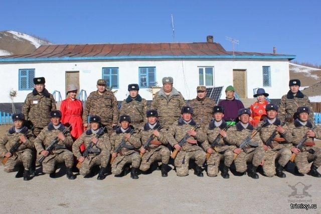 Будни монгольских пограничников на границе с Россией