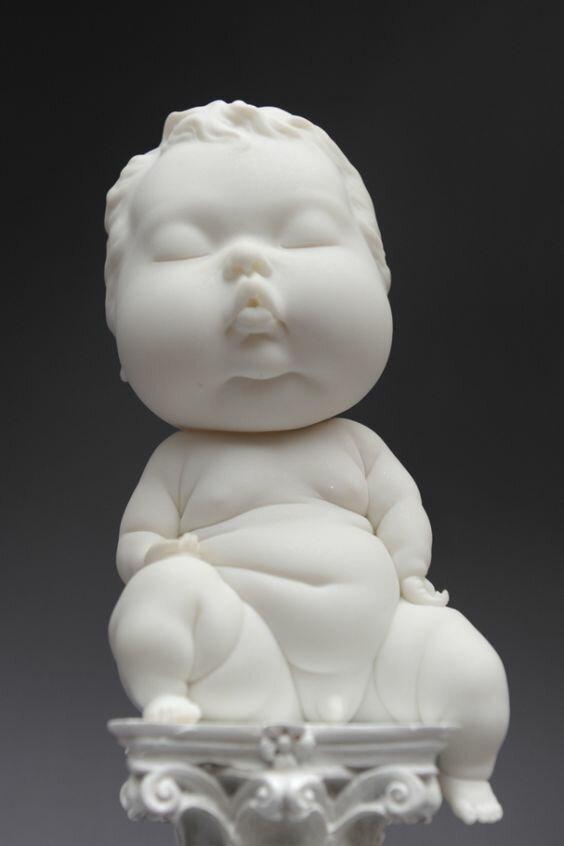 Пластичные керамические детишки, которые поднимут вам настроение                      Интересное