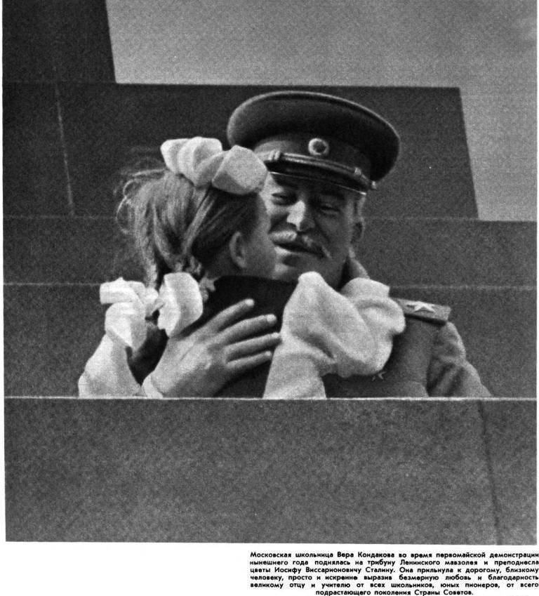 Школьница, поцеловавшая Сталина: как сложилась судьба девочки, которую знала вся страна