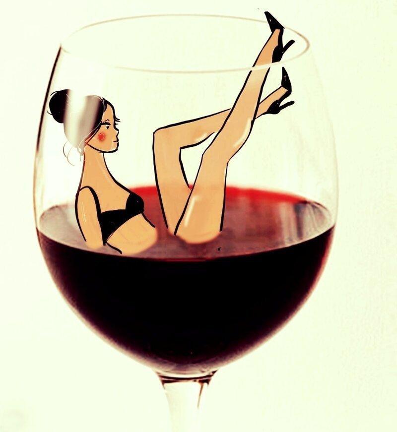 Веселые картинки для тех, кто любит винишко!-30 фото-
