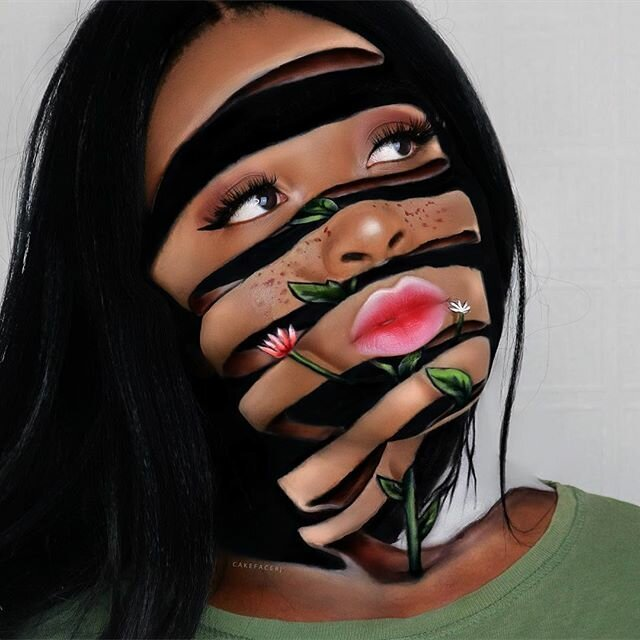 Визажистка из Британии умеет создавать на своём лице совершенно потрясающие оптические иллюзии-21 фото-