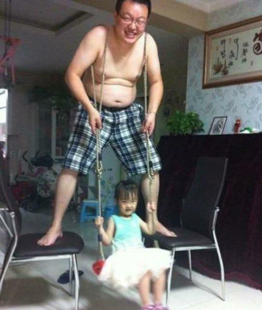 10 фотографий отцов, которые легко справляются с воспитанием детей-10 фото-