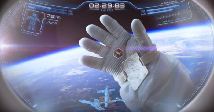В США разработали шлем космического скафандра с проекционным дисплеем -+гиф-