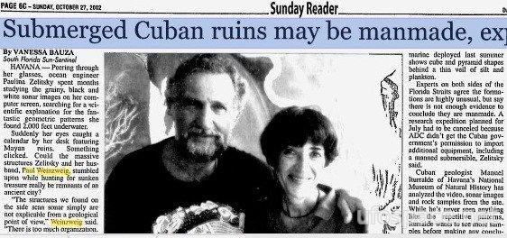 Загадка 50-тысячелетнего подводного города с пирамидами у берегов Кубы -4 фото-