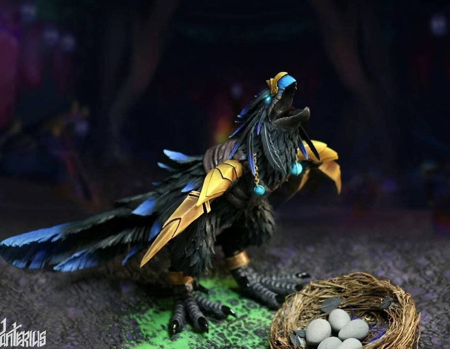Украинская художница лепит персонажей вселенной World of Warcraft, и её внимание к деталям впечатляет Интересное